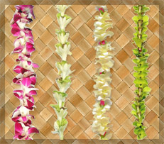 fresh flower leis