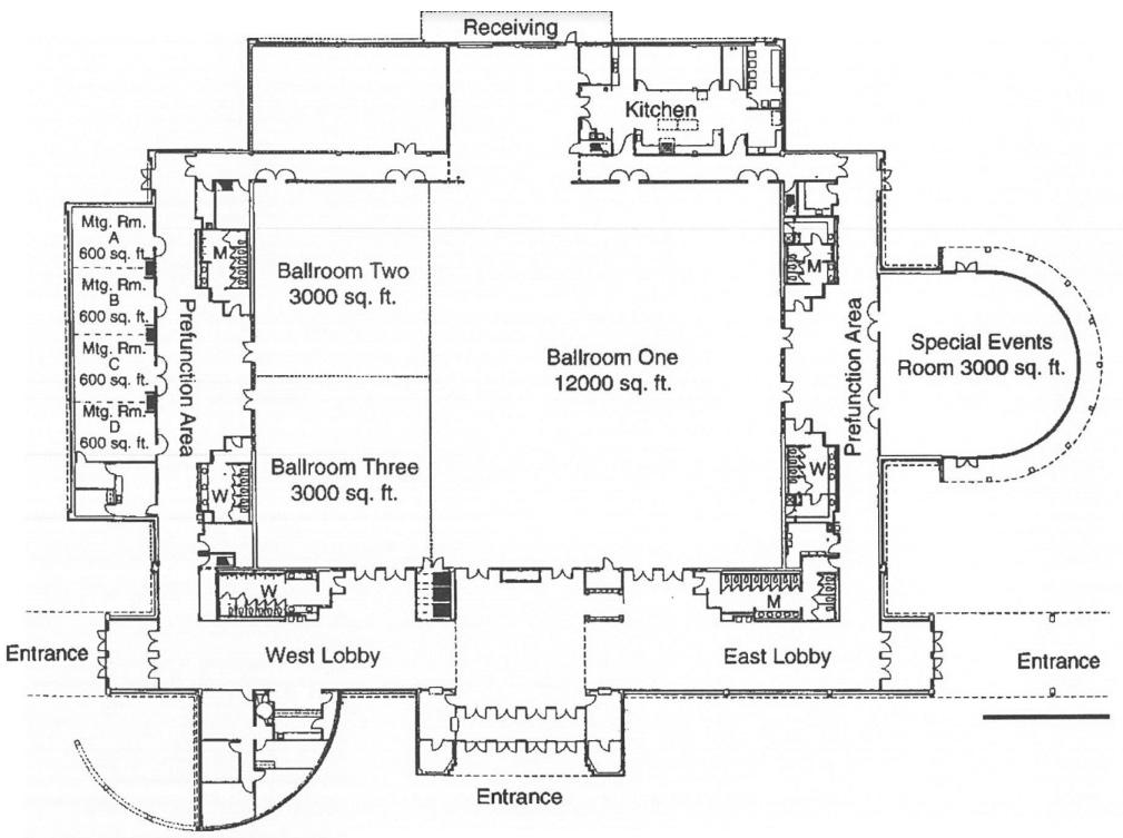 Humble Civic Center Diagram Map